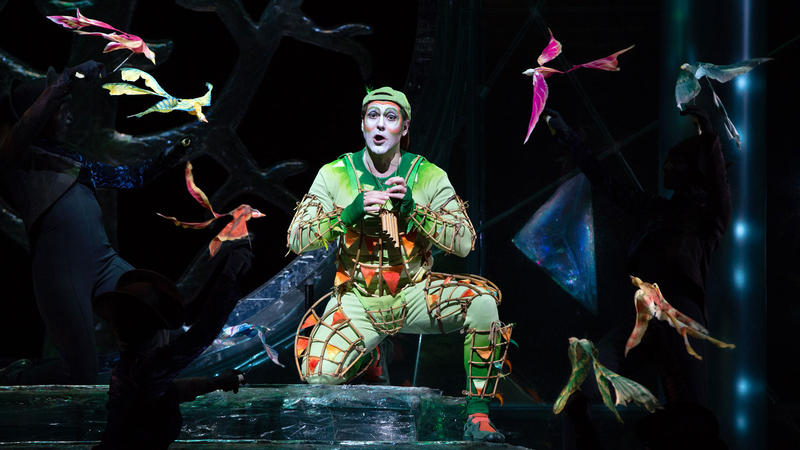 Main character Papageno performing