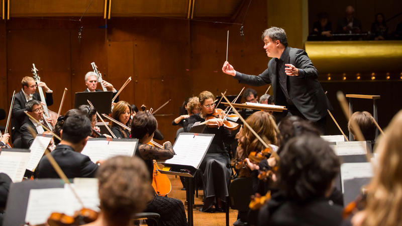 New York Philharmonic being conducted by Alan Gilbert