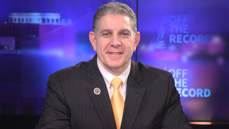 Lansing Mayor Virg Bernero appearing on Off the Record with Tim Skubick.