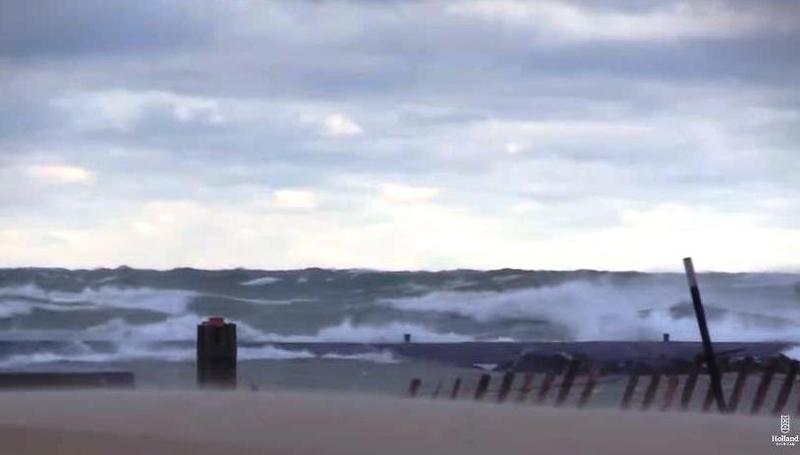 High waves at Holland Park on December 5, 2017.
