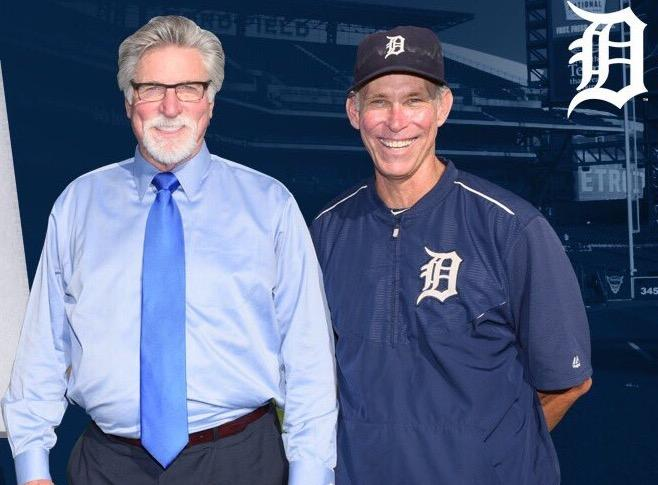 Detroit Tigers teammates Jack Morris and Alan Trammell