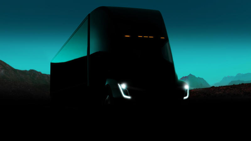 "Tesla press release photo of ""Tesla Semi"""
