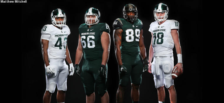 Nike's MSU uniforms from 2015 promotional picture