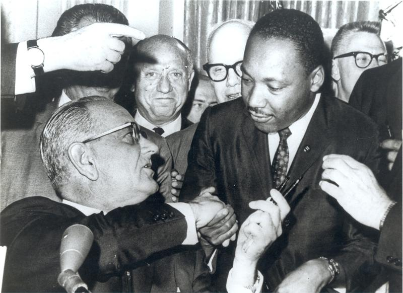 Martin Luther King, Jr. and President Lyndon Johnson