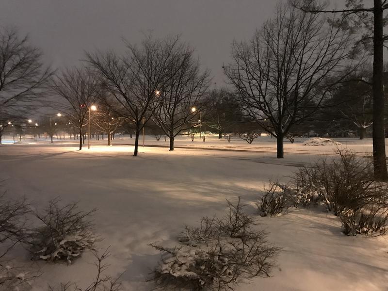 Snowing at WKAR