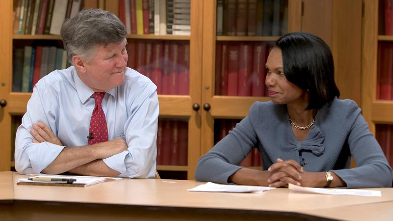 David M. Kennedy and Condoleezza Rice team up across party lines to explore what ideals Americans hold in common.