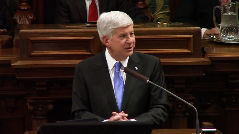 Governor Snyder at podium