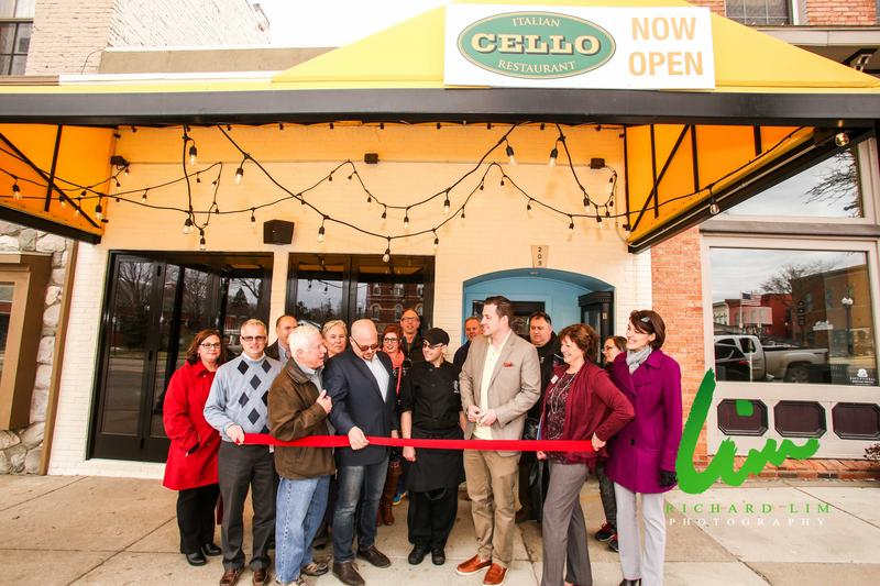 Ribbon cutting of Cello restaurant in Howell