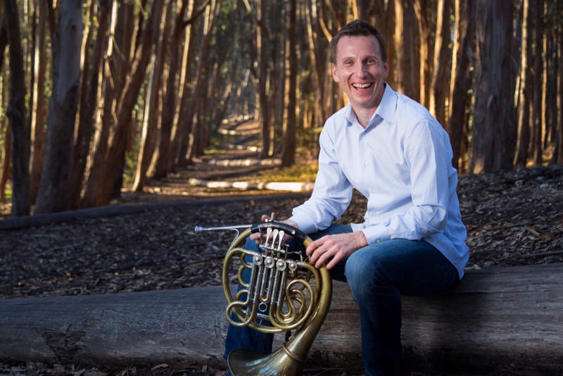 David Cooper, French horn with Berlin Philharmonic and guest artist with the Lansing Symphony this Saturday night.