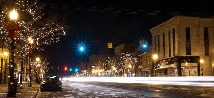 Downtown Howell during holidays