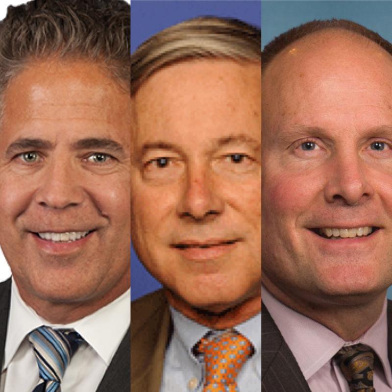 Left to right: Rep. Mike Bishop (R), Rep. Fred Upton, Rep. John Moolenaar