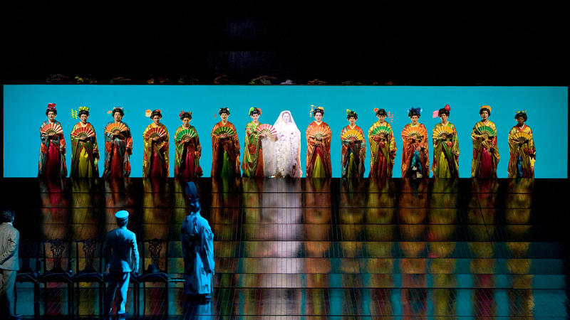"A scene from Act I of Puccini's ""Madama Butterfly."""