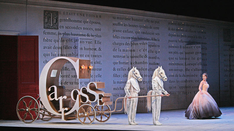 A scene from Laurent Pelly's new production of Massenet'sCendrillon . Photographed here at the Santa Fe Opera.