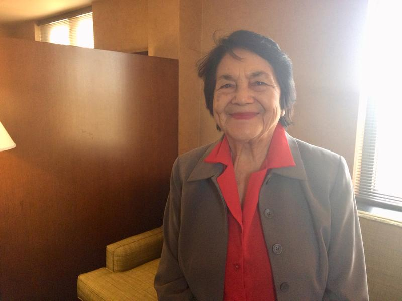 87 year old Dolores Huerta at the Kellogg Center in East Lansing - Tuesday February 27, 2018