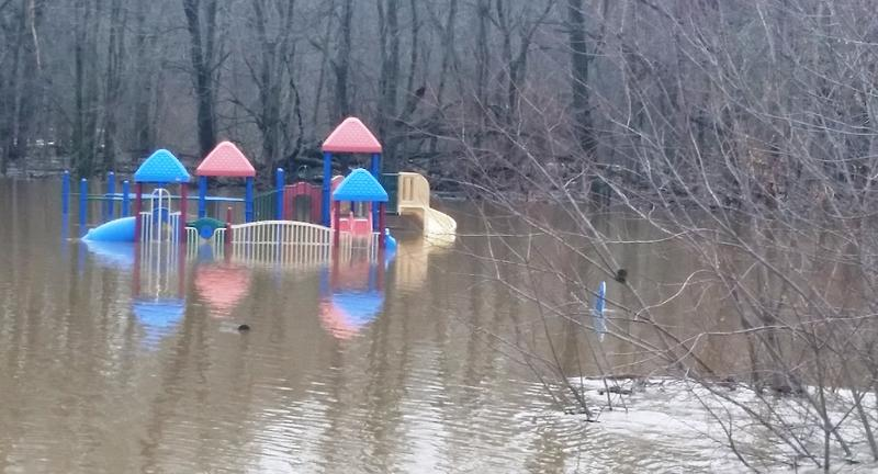 playset in water