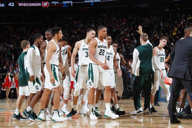 MSU basketball team played Wisconsin at Madison Square Garden on March 2, 2018.
