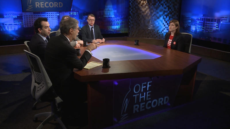 Dr. Emily Durbin appearing on Off the Record with Tim Skubick.