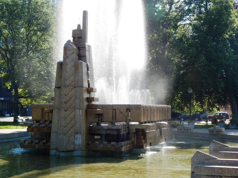 Fountain of the Pioneers in Bronson Park, Kalamazoo