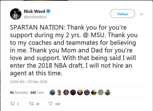 Ward Tweet