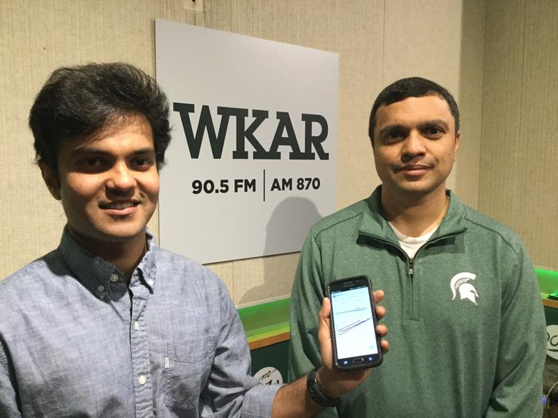 Anand Chandrasekhar and Ramakrishna Mukkamala photo with blood pressure cell phone app