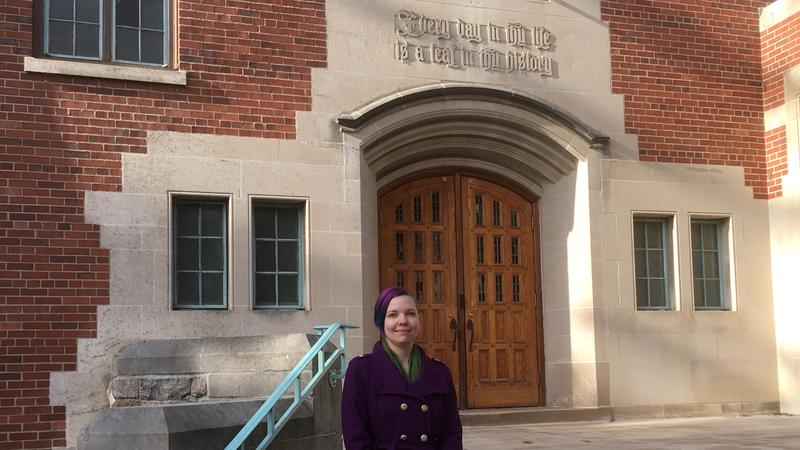 Megan Malone at Williams Hall photo