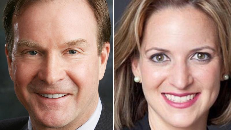 MI Attorney General Bill Schuette (left), Secretary of State candidate Jocelyn Benson (right)