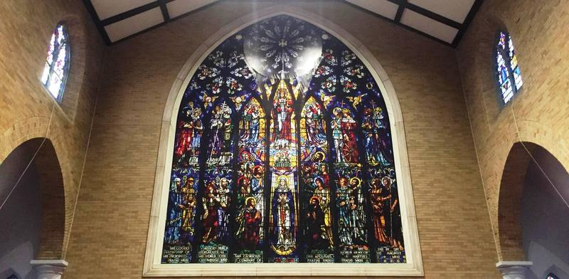 Repaired Stained Glass Window at St. Paul's Episcopal Church in Lansing
