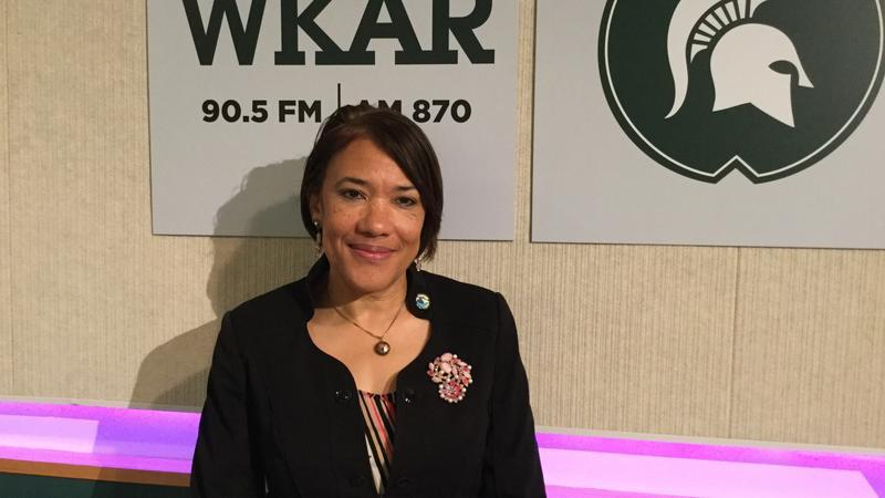 Flint Mayor Karen Weaver at WKAR Studios