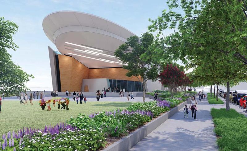 Draft of the Adado Riverfront Park Plan.