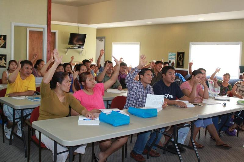 Participants at one of the Burma Center's English as a second language (ESL) classes
