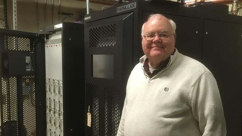 Gary Blievernicht photo with new WKAR-TV transmitters