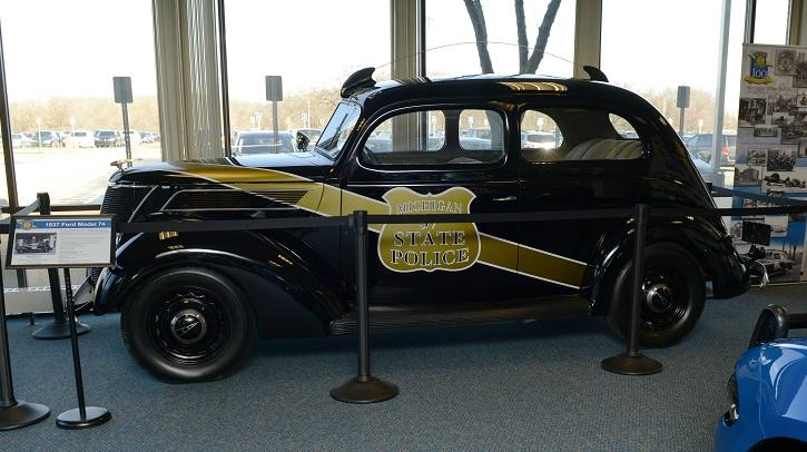 Old police car in the MSP Museum
