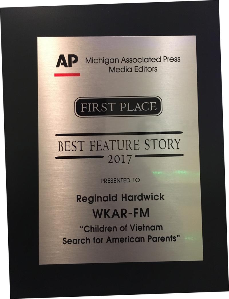 Best Feature Story: Reginald Hardwick,