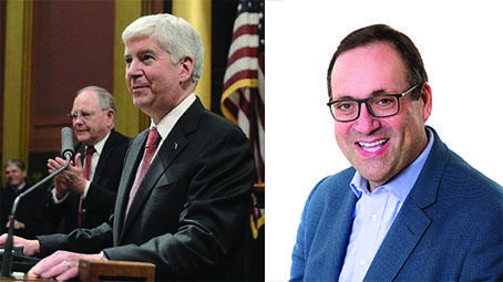 Rick Snyder and Richard Harrington