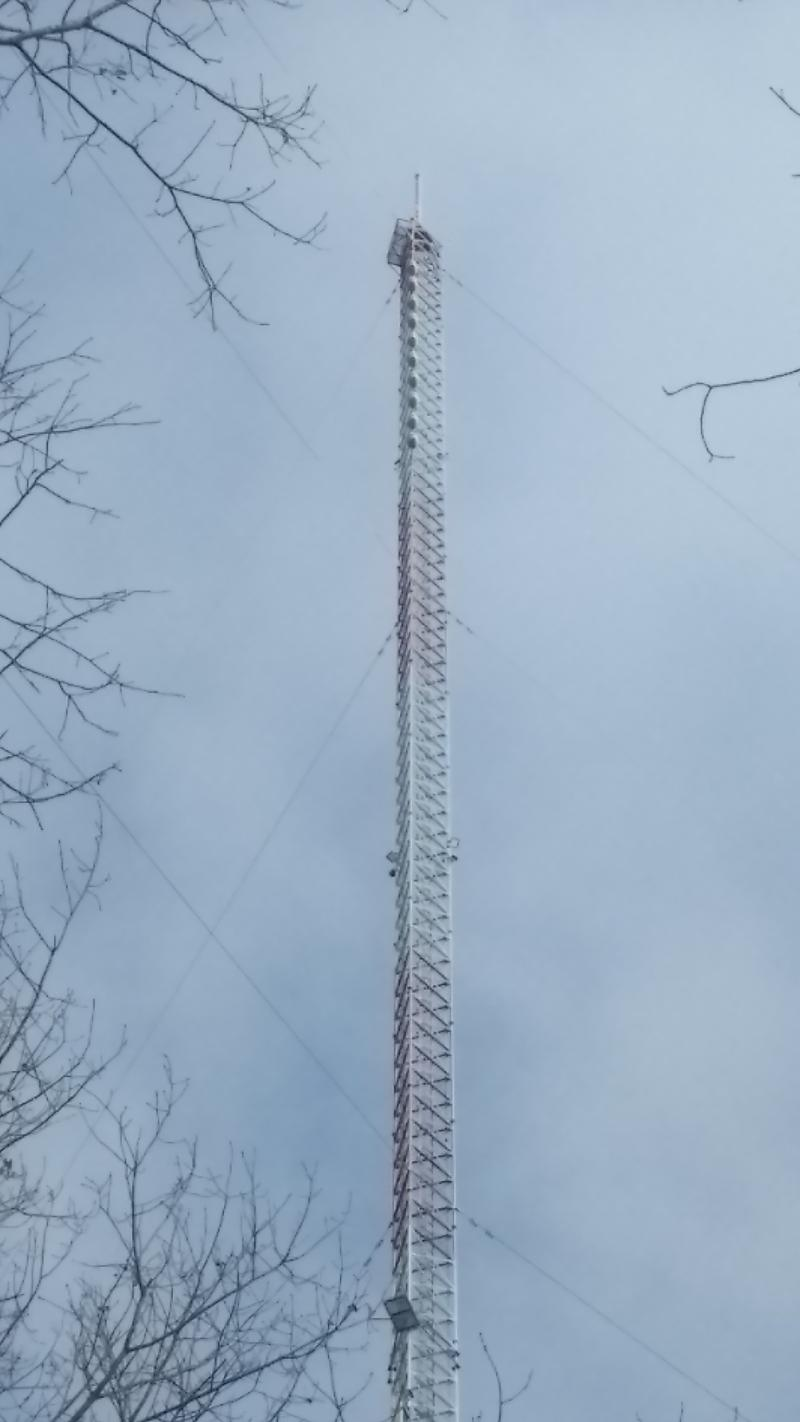 WKAR tower with ice