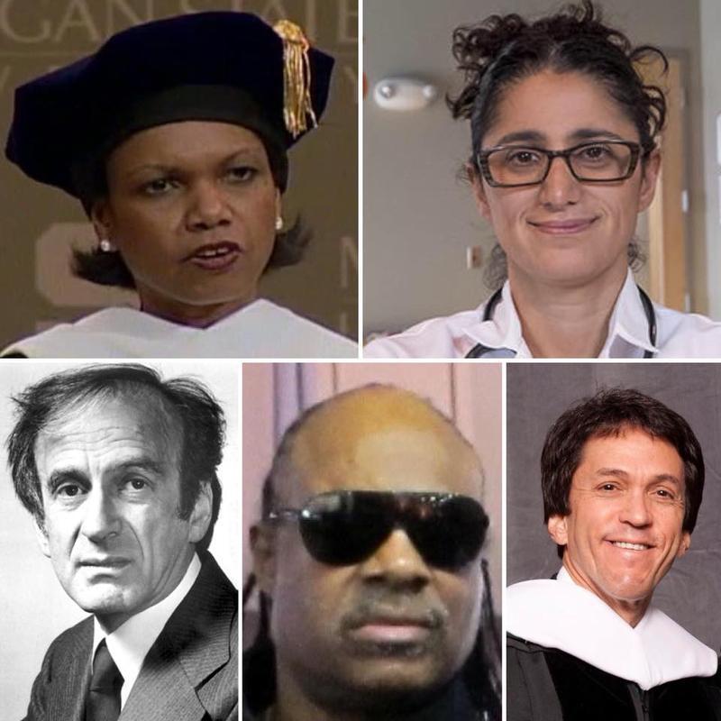 Condoleezza Rice, Dr. Mona Hanna-Atisha, Elie Wiesel, Stevie Wonder, Mitch Albom