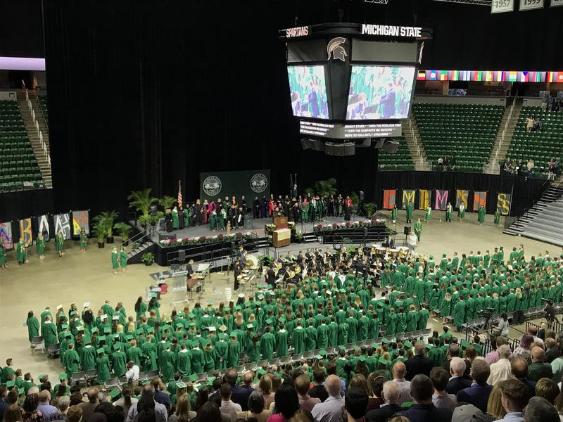 MSU's Spring Convocation at the Breslin Center on Friday afternoon.
