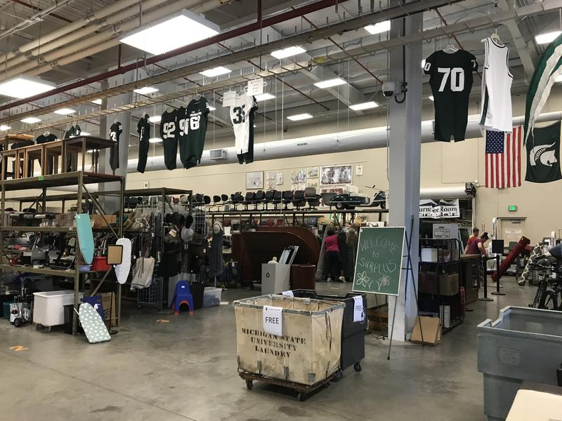 The MSU Surplus Store sales floor.