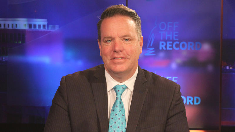 Rep. Robert Kosowski appearing on Off the Record with Tim Skubick.