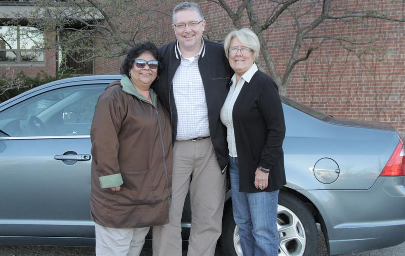 MSU employees Elvira Martinez-Jones, Alex Parsons, and Cindy Helms have been carpooling to work at MSU from St. Johns for over 11 years.