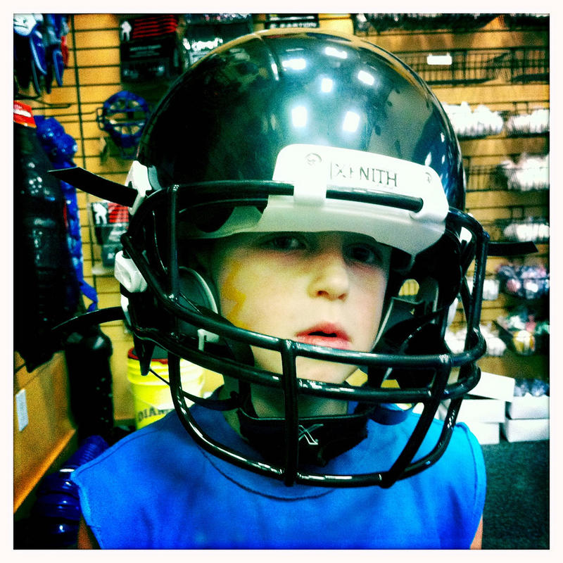 Boy in Helmet