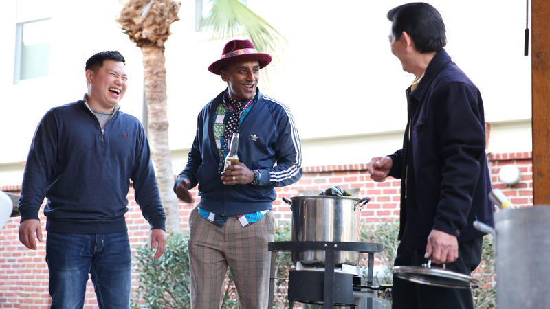 Chef Tung Nguyen and Marcus Samuelsson prepare special dishes to celebrate Tết, The Vietnamese New Year, at the Nguyen home.