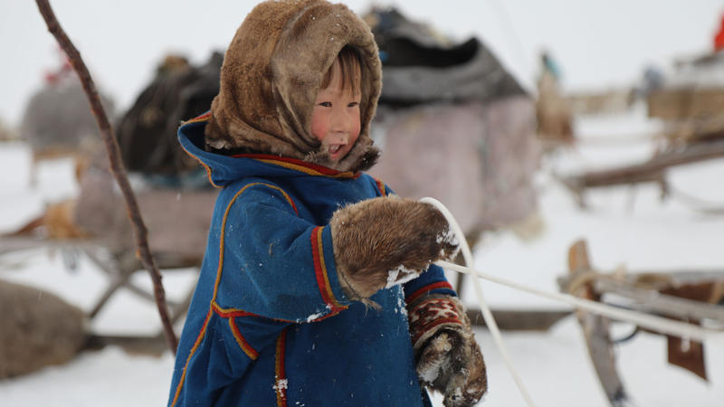 A child from Nenets tribe of Siberia.