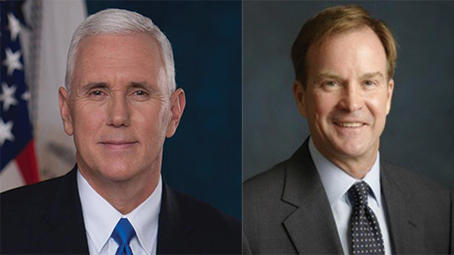 Mike Pence and Bill Schuette