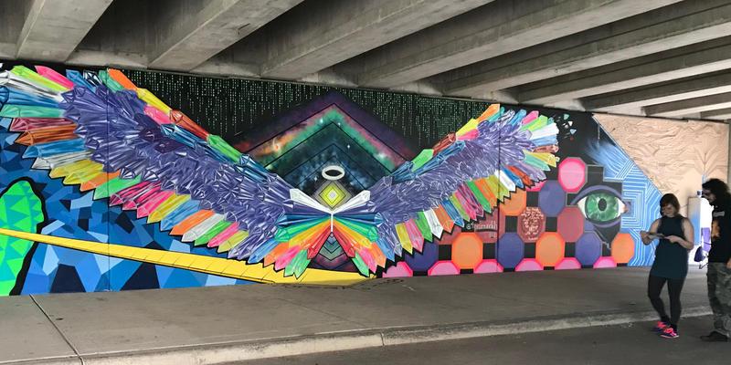 Lansing ARTpath 2018 - Mural by Tea Brown