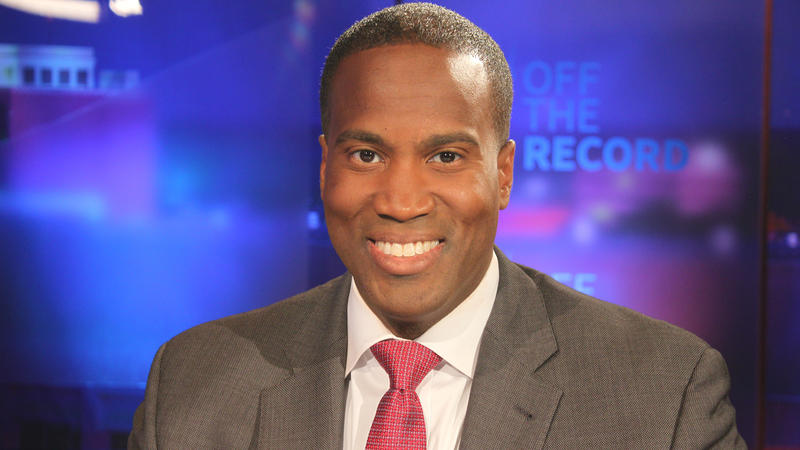 John James appearing on Off the Record with Tim Skubick.