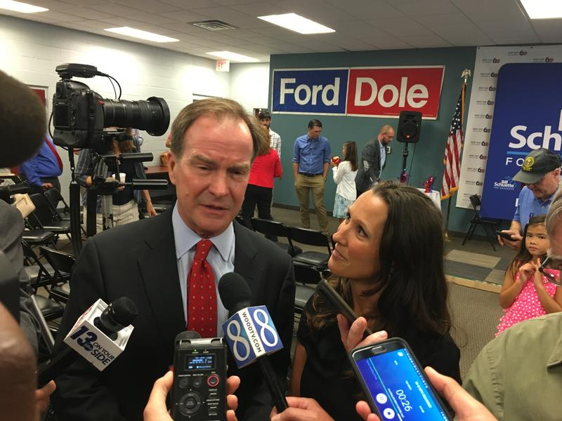 Bill Schuette and Lisa Posthumus Lyons