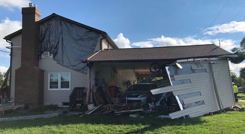 tornado damage Frenchtown township