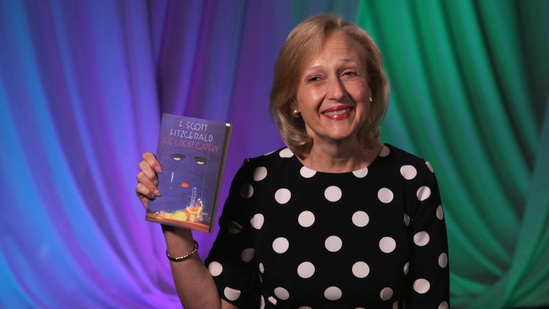 Paula Kerger with Great Gatsby book