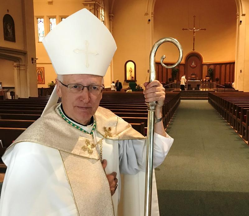 bishop in church